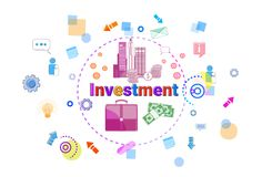 Investment Concept Business Idea Promotion Sponsor Banner Royalty Free Stock Photography