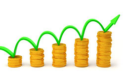 Investment concept. 3D rendering Royalty Free Stock Images