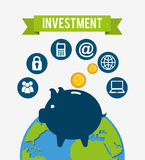 Investment concept design. Illustration eps10 graphic Stock Photography