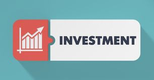 Investment Concept in Flat Design. Royalty Free Stock Images