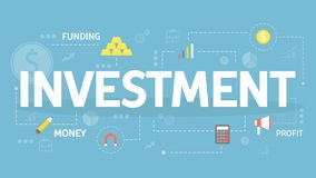 Investment concept illustration. Idea of financial support Royalty Free Stock Photography