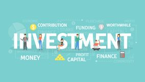 Investment concept illustration. Royalty Free Stock Photo