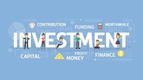 Investment concept illustration. Stock Photo