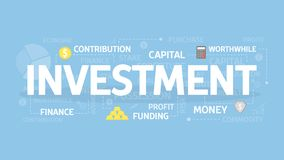 Investment concept illustration. Idea of money, finance and capital Royalty Free Stock Images