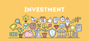 Investment concept illustration. Stock Images