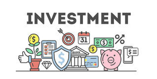 Investment concept illustration. Royalty Free Stock Images