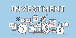 Investment concept illustration. Royalty Free Stock Image