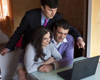 Investment Consultant with Adult Couple Royalty Free Stock Photography