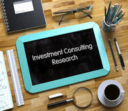Investment Consulting Research on Small Chalkboard. 3D. Royalty Free Stock Photography