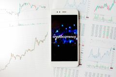 Investment in cryptocurrencies, concept. Statistics and reports, analysis of the cryptocurrency market. royalty free stock photo