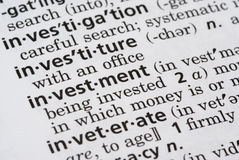 Investment Defined Stock Images