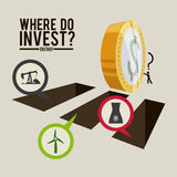 Investment design. Investment graphic design , vector illustration Stock Images