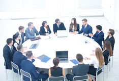 Investment Director holds a meeting with the business partners, Royalty Free Stock Image