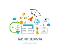 Investment in education. Business development. Investment in education. Education concept. Strategy of successful learning. Business development Stock Photos