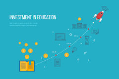 Investment in education. Business development Royalty Free Stock Photography