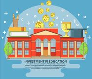 Investment in education concept vector illustration in flat style design Stock Image