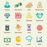 Investment elements. Vector infographic icons Royalty Free Stock Image