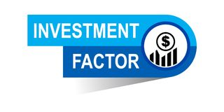 Investment factor banner. Commerce concept web banner icon on isolated white background - vector eps illustration Stock Image