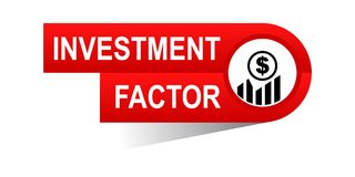 Investment factor banner. Commerce concept web banner icon on isolated white background - vector eps illustration Royalty Free Stock Photos