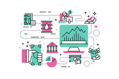 Investment and finanace illustration Royalty Free Stock Photos