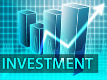Investment finances. Illustration of bar chart diagram Royalty Free Stock Images