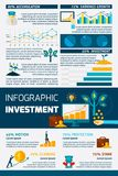 Investment Flat Color Infographic Stock Images