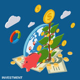 Investment flat isometric vector concept Stock Photography
