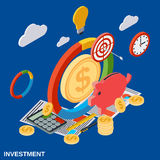 Investment flat isometric vector concept Stock Photo