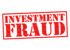 INVESTMENT FRAUD. Red Rubber Stamp over a white background Royalty Free Stock Image