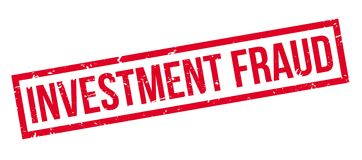 Investment Fraud rubber stamp Stock Images