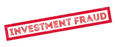 Investment Fraud rubber stamp Stock Photography