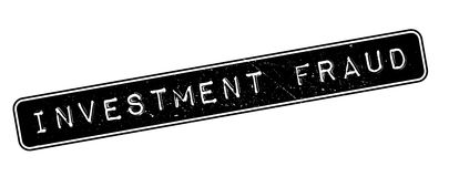 Investment Fraud rubber stamp Royalty Free Stock Photos