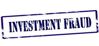 Investment fraud. Stamp with text investment fraud inside,  illustration Stock Photography