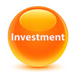 Investment glassy orange round button Royalty Free Stock Image