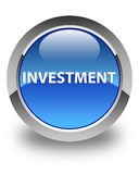 Investment glossy blue round button Royalty Free Stock Photo