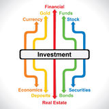 Investment graph background stock. Investment graph stock  background Stock Images