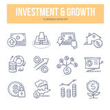 Investment & Growth Doodle Icons stock illustration