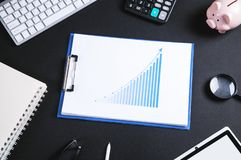 Investment growth graph. Business concept stock photos