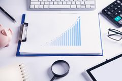 Investment growth graph. Business concept stock photography