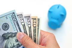 Investment. The hand hold USD money Royalty Free Stock Images