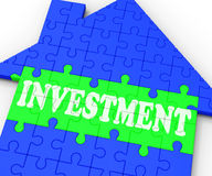 Investment House Means Investing In Stock Photos