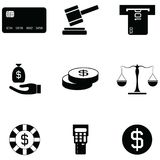 Investment icon set. The investment of icon set Stock Photography