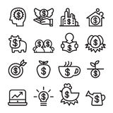 Investment icon set , line icon vector illustration. Graphic design Royalty Free Stock Image