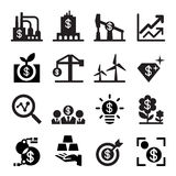 Investment icon set Royalty Free Stock Photography