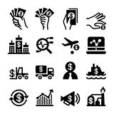 Investment icon set Vector illustration. Graphic Design Stock Photos