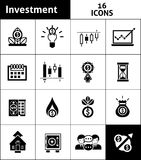 Investment Icons Black Stock Images