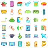 Investment icons set, cartoon style. Investment icons set. Cartoon style of 36 investment vector icons for web isolated on white background Royalty Free Stock Photography