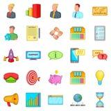 Investment icons set, cartoon style. Investment icons set. Cartoon set of 25 investment vector icons for web isolated on white background Royalty Free Stock Photo