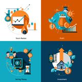Investment Icons Set Stock Photography
