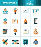 Investment Icons Set Royalty Free Stock Photo